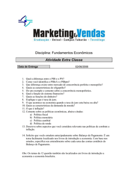 Questionário Marketing