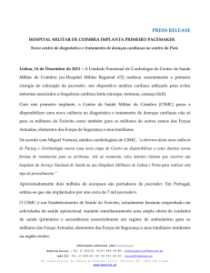 PRESS RELEASE Hospital Militar de coimbra implanta primeiro