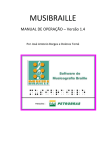 Manual do programa Musibraille - NCE/UFRJ