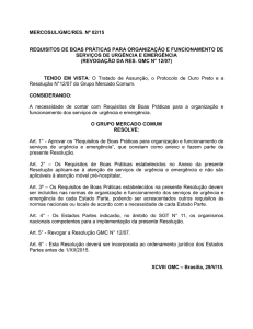 MERCOSUL/GMC/RES. Nº 02/15 REQUISITOS DE BOAS