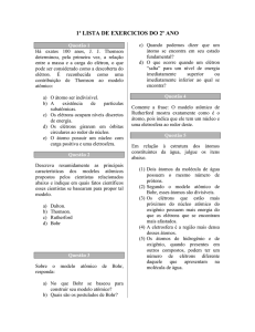 1ª lista de exercicios do 2º ano