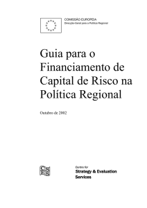 Guia para o Financiamento de Capital de Risco na Política Regional
