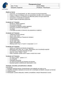 9b3cb066a Planejamento Anual Ano  1º ano Ensino Médio Disciplina  Espanhol