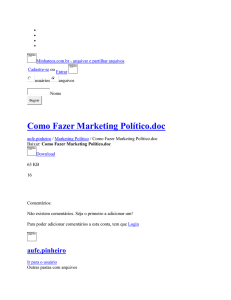 Como Fazer Marketing Político - Marketing Político
