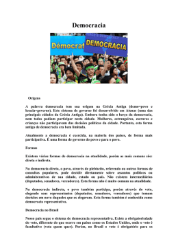 Democracia - Escola Fragelli