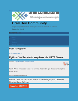 Python 3 - Servindo arquivos via HTTP Server : Drall Dev
