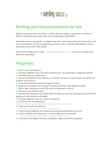 Briefing - Wesley Souza Web Designer Freelancer