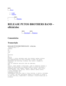 RELEASE PUTOS BROTHERS BAND – oficial - Projeto
