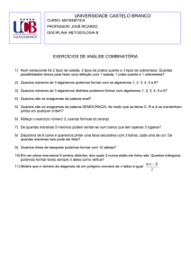 EXERCICIOS_DE_ANALISE_COMBINATORIA