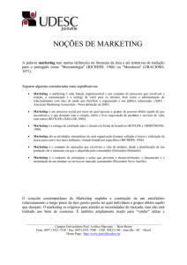 noções de marketing