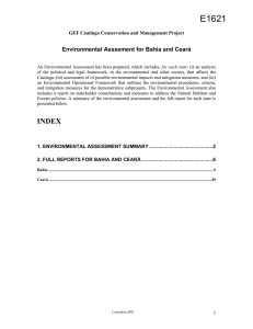 Bahia - World bank documents