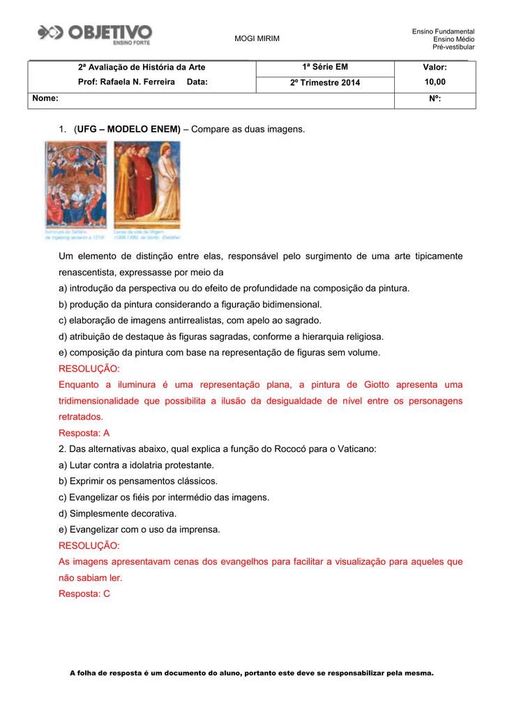 2-GABARITO-AvaliacaoHistoriadaArteRafaela2Tri1EMMG2014