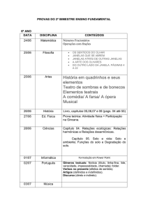 PROVAS DO 2º BIMESTRE ENSINO FUNDAMENTAL 6º ANO DATA
