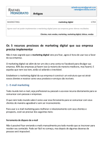 1 - E-mail marketing