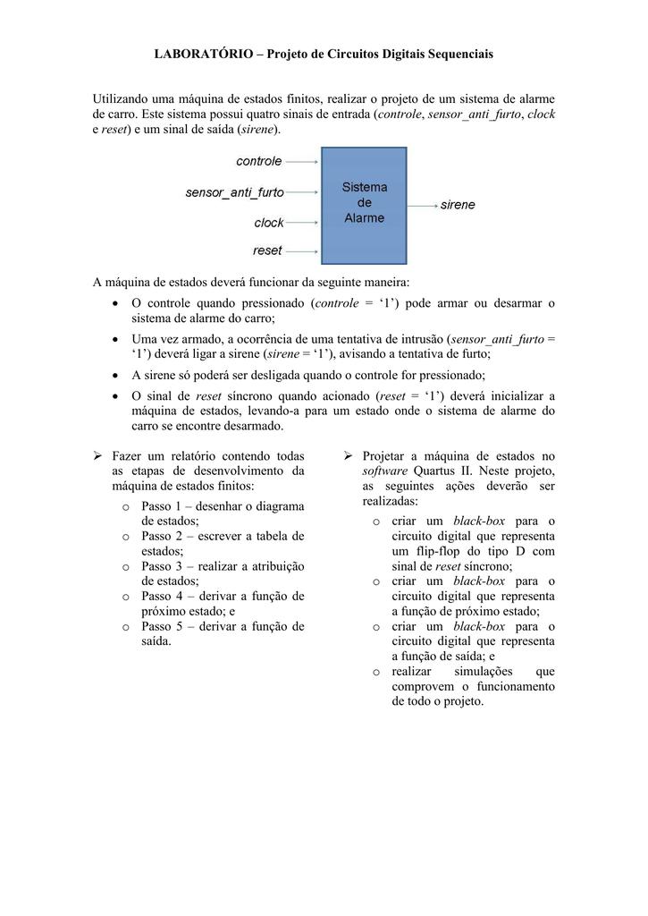 LABORATÓRIO – Projeto Hierárquico no software Quartus II