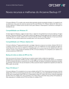 Arcserve - What`s new in ASBU R17