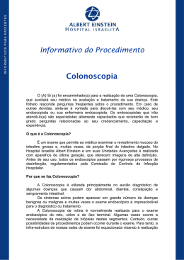 Informativo do Procedimento Colonoscopia