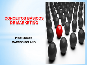 CONCEITOS DE MARKETING