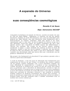A expansão do Universo - Instituto de Física