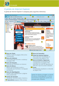 A janela do Internet Explorer