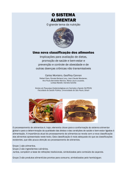 o sistema alimentar - World Public Health Nutrition Association