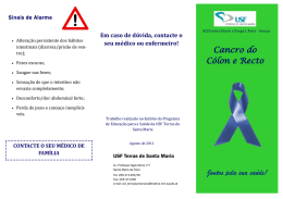 Cancro do colon e reto - USF