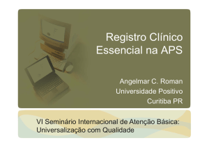 O registro essencial da APS