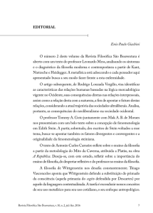 EDITORIAL Enio Paulo Giachini O número 2 deste volume da