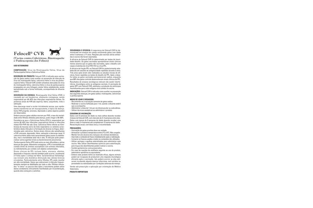 Felocell® CVR - zoetisUS com