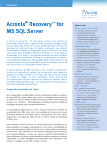 Acronis® Recovery™ for MS SQL Server