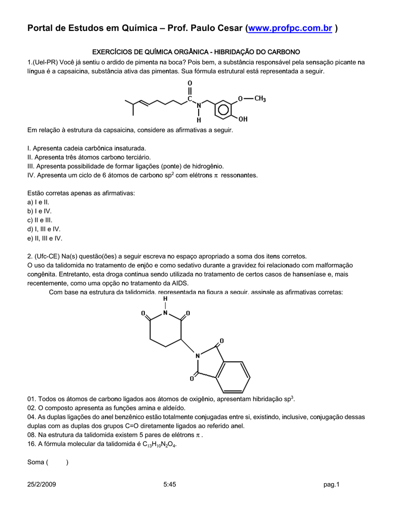 a capsaicina cuja formula