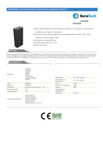 pb5200bk | power bank eurotech 5200mah preto