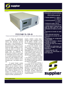 FCC/CAM 10–100–6i - Supplier Indústria