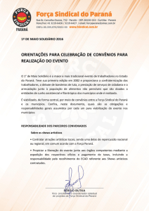 neste documento - Força Sindical do Paraná