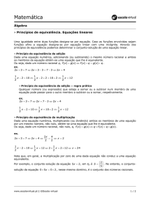 Matemática - Escola Virtual