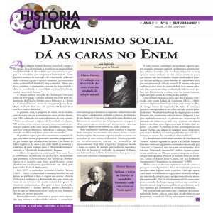 DARWINISMO SOCIAL DÁ AS CARAS NO ENEM