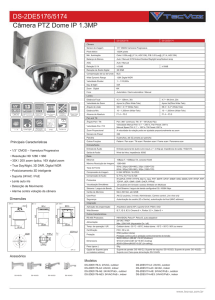 DS-2DE5176/5174 Câmera PTZ Dome IP 1.3MP - TECVOZ