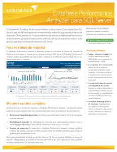 Database Performance Analyzer para SQL Server