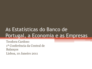 As Estatísticas do Banco de Portugal, a Economia e as Empresas