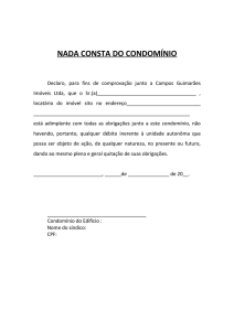 Nada Consta do Condominio
