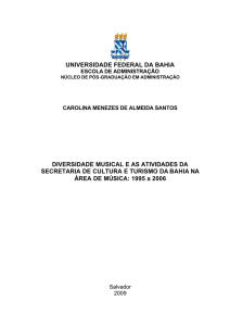 universidade federal da bahia diversidade musical e as