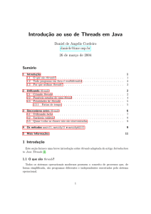 Introduç˜ao ao uso de Threads em Java - IME-USP