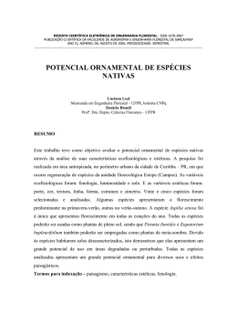 POTENCIAL ORNAMENTAL DE ESPÉCIES NATIVAS