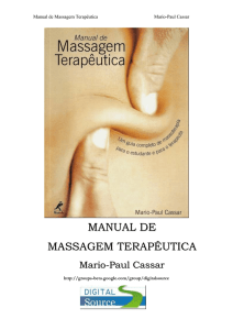 Manual de Massagem Terapêutica