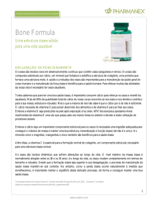 Bone Formula Product Information Page