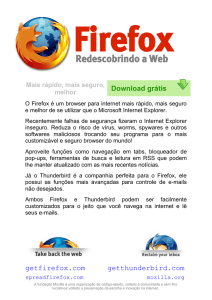 Firefox is an alternative web browser to Internet Explorer that