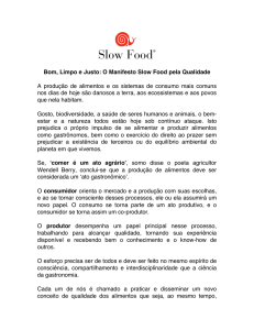 Bom, Limpo e Justo - Slow Food International
