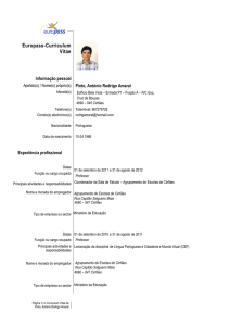 Curriculum Vitae[1] - Universidade do Porto