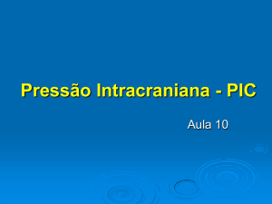 Pressão Intracraniana - PIC - Disciplinas On-line