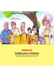 HEMOFILIA Cartilha para o Professor - BVS MS